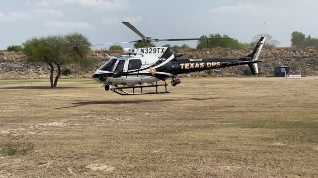 texas department of public safety helicopter takes off near the u.s.-mexico border on march 23 near mission, texas. a surge of immigrants, including... - mcallen texas stock videos & royalty-free footage