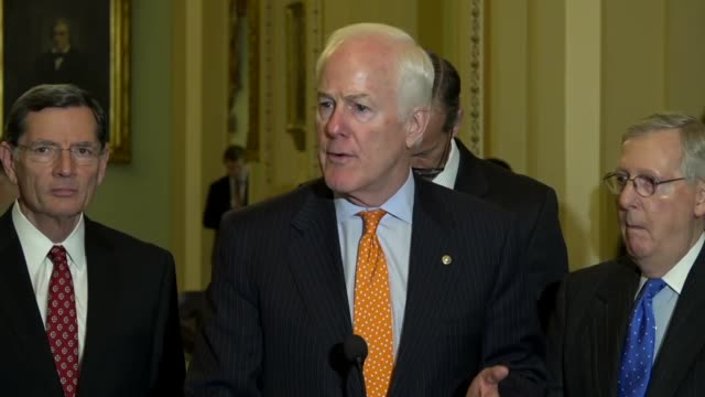 Texas press statement on obstruction of Pompeo for Secretary of State John Cornyn tells reporters at a weekly briefing that it was especially hard to...