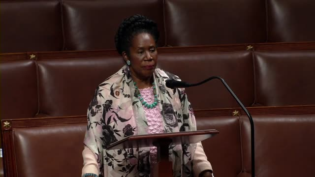 texas representative sheila jackson lee says at the end of house legislative business sometimes it was very difficult to respond to something so out... - united states congress stock videos & royalty-free footage