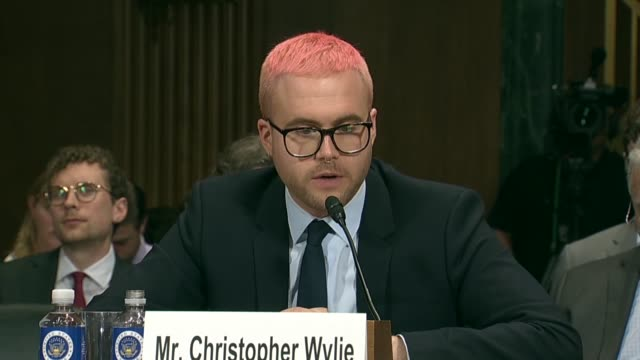 texas senator john cornyn asks former cambridge analytica research director christopher wylie at a senate judiciary committee at a hearing on data... - scraping stock videos and b-roll footage
