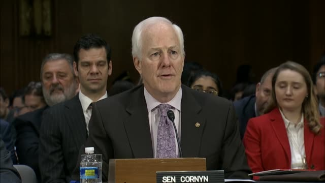 texas senator john cornyn calls rex tillerson uniquely qualified for the office of the secretary of state based on extensive international experience... - altruism stock videos & royalty-free footage