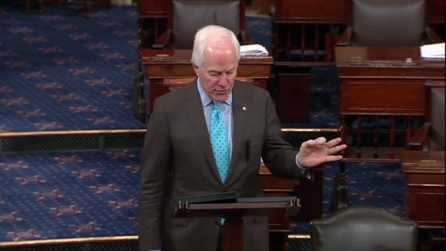 stockvideo's en b-roll-footage met texas senator john cornyn continues a speech on immigration that the issue cannot be looked at through a soda straw asked by reporters about a bridge... - {{relatedsearchurl(carousel.phrase)}}