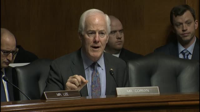 texas senator john cornyn inquires of fbi director james comey about the impact of the usa freedom act which restricted electronic surveillance by... - national security agency usa stock videos and b-roll footage