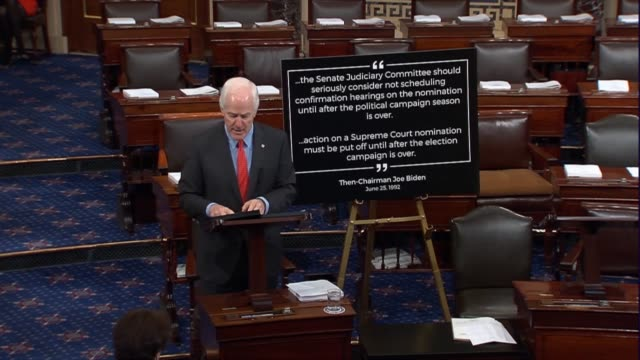 Texas Senator John Cornyn rejects a myth spread by Senate Democrats that Republicans in refusing to consider a Supreme Court nominee was...