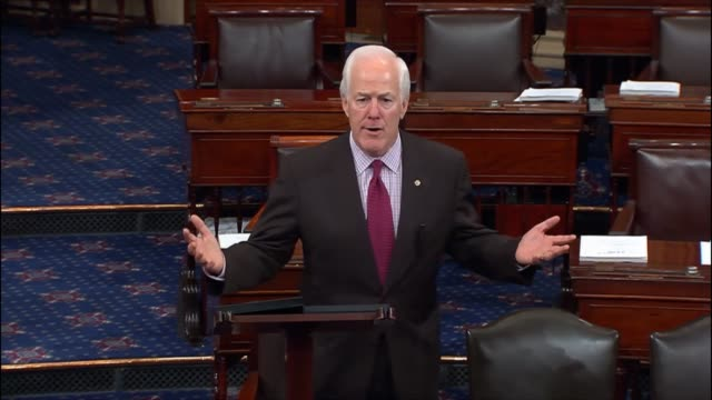 texas senator john cornyn remarks the day after an interfaith service in dallas texas to memorialize five police officers killed the week before... - 追悼行事点の映像素材/bロール