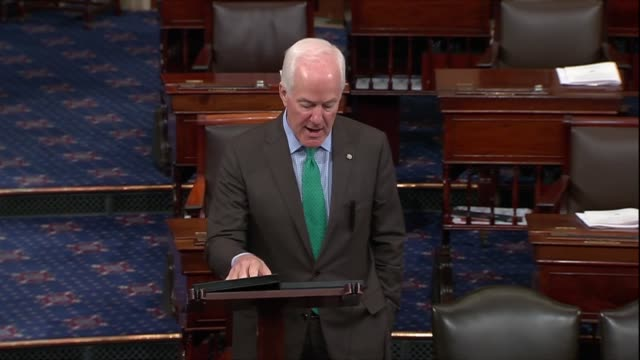 texas senator john cornyn says a day after president donald trump nominated judge brett kavanaugh to the supreme court that those in the judicial... - oath stock videos and b-roll footage