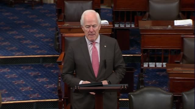 texas senator john cornyn says as late president george hw bush lay in state in the capitol rotunda that bush wrote to president clinton rooting for... - altruism stock videos & royalty-free footage