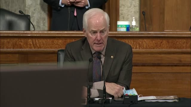 texas senator john cornyn says at a senate judiciary committee business meeting on reporting the supreme court nomination of judge amy coney barrett... - partisan politics stock videos & royalty-free footage