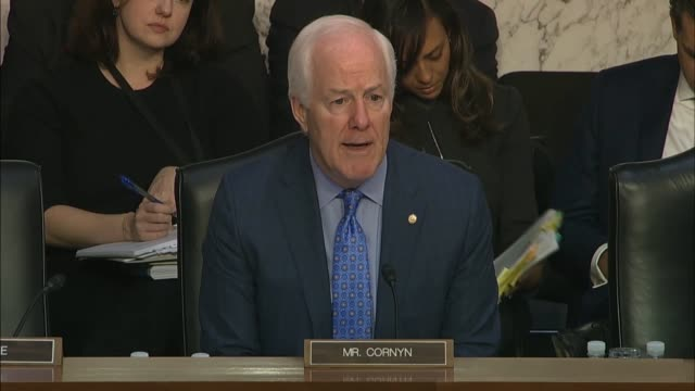 texas senator john cornyn says at a senate judiciary committee hearing that plans were made for an fbi agent to go in during a defensive briefing for... - an answer film title stock videos & royalty-free footage
