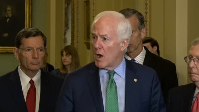 texas senator john cornyn says at a weekly briefing that the challenges with china are from a national security standpoint and an economic standpoint... - communist party stock videos and b-roll footage