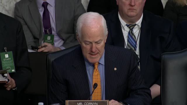 texas senator john cornyn says on the first day of the confirmation hearing for judge neil gorsuch to the supreme court that no democrats opposed... - humility stock videos and b-roll footage