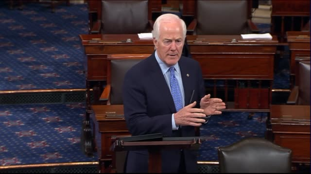 Texas Senator John Cornyn speaks on the floor after the Senate returned from an Independence Day recess to argue that the failures of the affordable...
