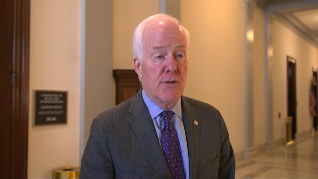 texas senator john cornyn speaks with reporters about the failure of those responsible for managing the security of the capitol on january 6 to... - partisan politics stock videos & royalty-free footage