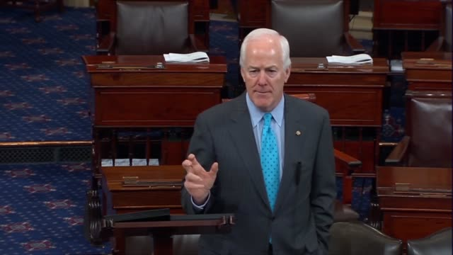 texas senator john cornyn states on the floor of the senate after president barack obama named merrick garland to fill a vacancy on the supreme court... - vacancyサイン点の映像素材/bロール
