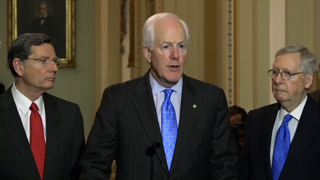 texas senator john cornyn tells reporters at a weekly briefing that an extension of the foreign intelligence surveillance act considered by the... - toolbox stock videos and b-roll footage