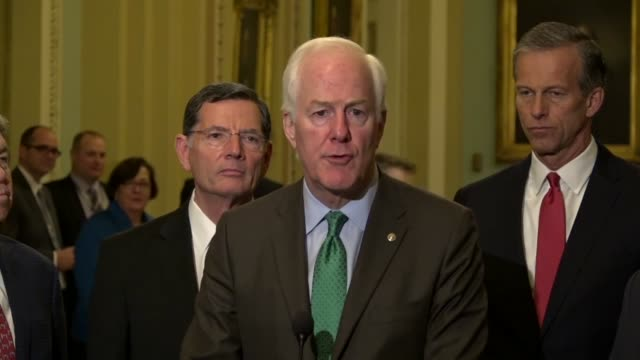 texas senator john cornyn tells reporters at a weekly briefing that the senate intelligence committee would vote out gina haspel to the full senate... - torture stock videos & royalty-free footage