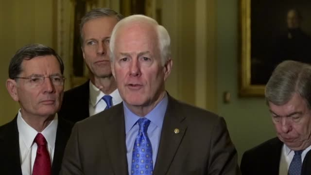 texas senator john cornyn tells reporters at a weekly news briefing that the foundation of prison reform was based on successful reforms in states... - prisoner education stock videos & royalty-free footage