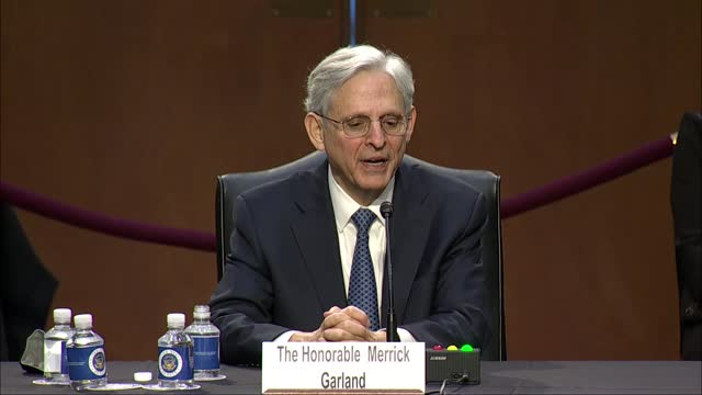 texas senator ted cruz asks attorney general nominee merrick garland at senate judiciary committee nomination hearing if he were right to assume... - partisan politics stock videos & royalty-free footage