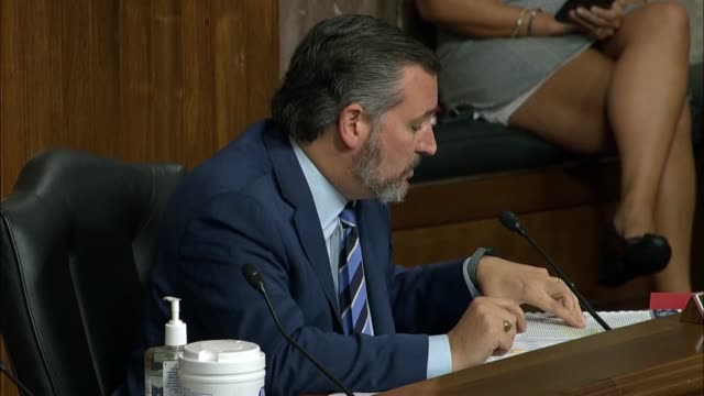 texas senator ted cruz asks former fbi director james comey at a senate judiciary committee hearing in review of the 2016 crossfire hurricane... - an answer film title stock videos & royalty-free footage