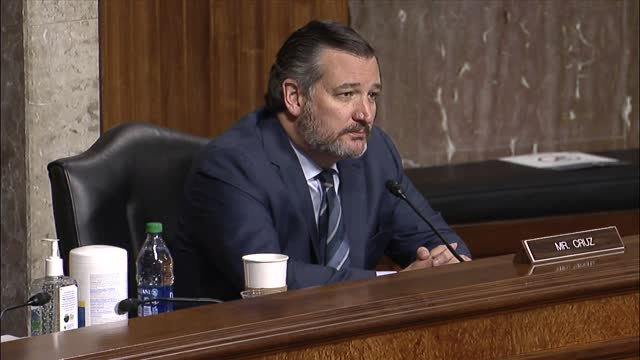 texas senator ted cruz asks twitter founder jack dorsey at a senate judiciary committee hearing on online suppression if twitter was a publisher,... - editorial stock videos & royalty-free footage