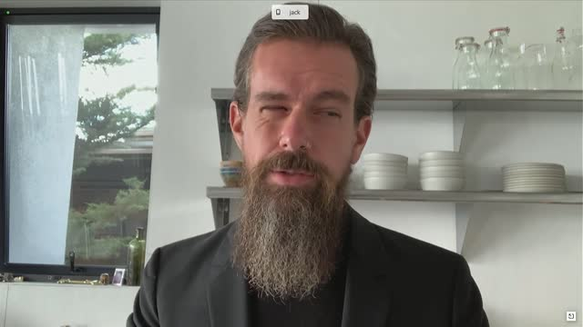 texas senator ted cruz asks twitter founder jack dorsey at a senate judiciary committee hearing on online suppression if he was aware the two weeks... - 創始者点の映像素材/bロール