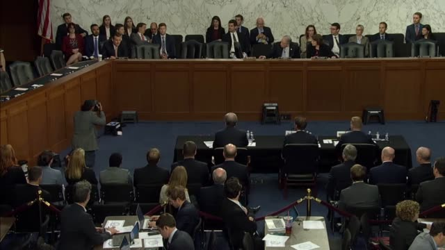 texas senator ted cruz laments at a senate judiciary committee hearing on the foreign agents registration act that he had just two minutes to... - michael horowitz stock videos & royalty-free footage