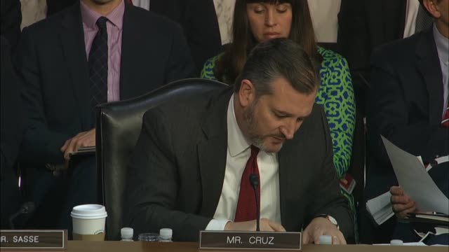 texas senator ted cruz rebuts colleagues at a senate judiciary committee hearing with justice department inspector general michael horowitz on his... - michael horowitz stock videos & royalty-free footage