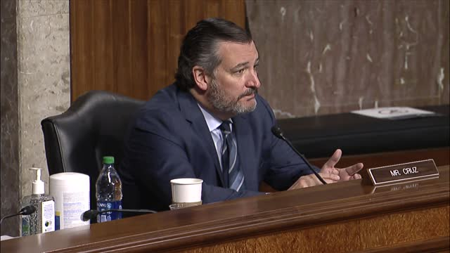 texas senator ted cruz says at a senate judiciary committee hearing on online suppression that facebook and twitter and google had massive monopoly... - big tech stock videos & royalty-free footage