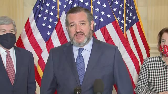texas senator ted cruz says at news conference with fellow senate republicans to call for reopening schools amid the coronavirus pandemic that it had... - partisan politics stock videos & royalty-free footage