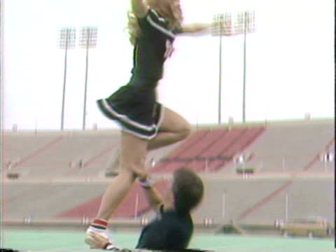 texas tech cheerleaders extend an invitation for home football games - cheerleader stock videos and b-roll footage