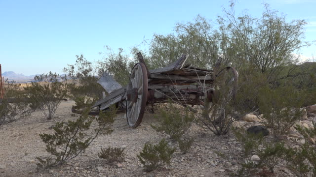 texas terlingua old wagon - cart stock videos and b-roll footage