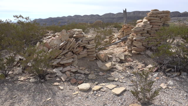 texas terlingua stone ruin crumbles - construction material stock videos and b-roll footage
