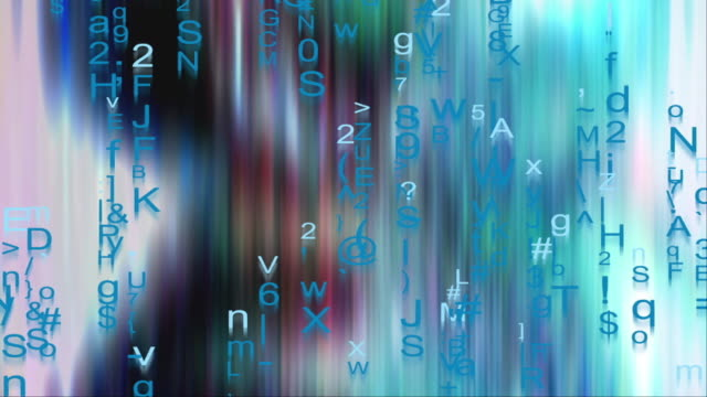 text and grids 0109: futuristic data flux - the alphabet stock videos & royalty-free footage