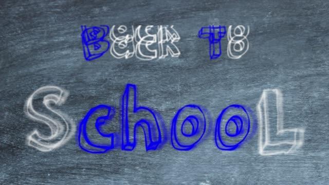 """Text """"Back to School"""" mit Übergängen über Blackboard"""