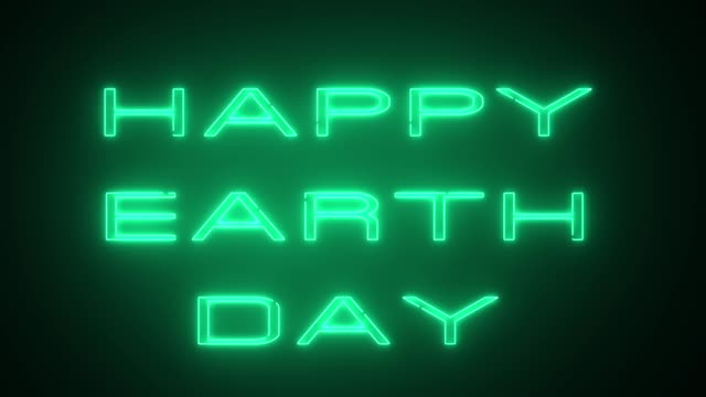 happy earth day text, backdrop, computer generating, can be used for holidays festive design - earth day stock videos & royalty-free footage