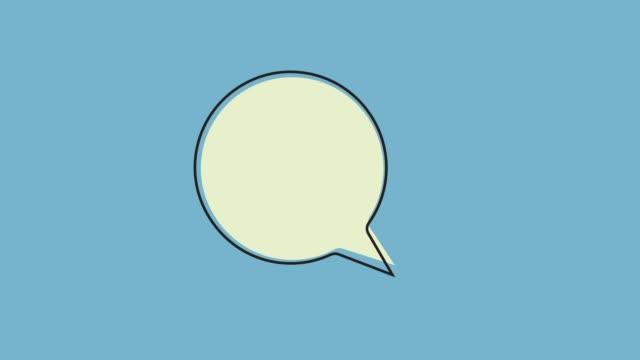 text message leeren sprechblasen, animation - fünf gegenstände stock-videos und b-roll-filmmaterial