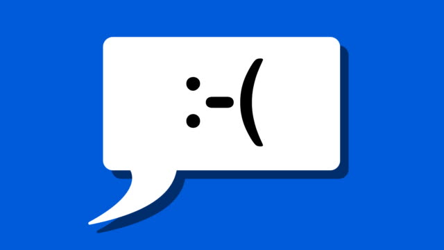 text messaging - emoticon chat bubbles - speech bubble stock videos & royalty-free footage
