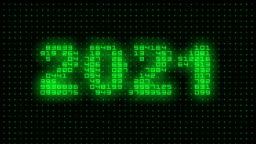 2021 Text on Binary Background