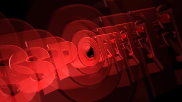SPORTS 3D Text Red