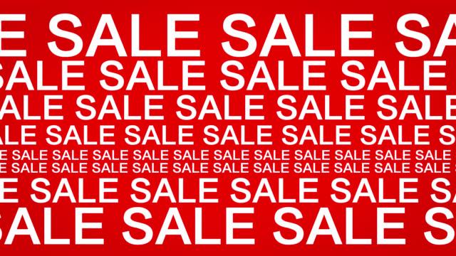 テキスト販売赤の背景のアニメーション - セール点の映像素材/bロール