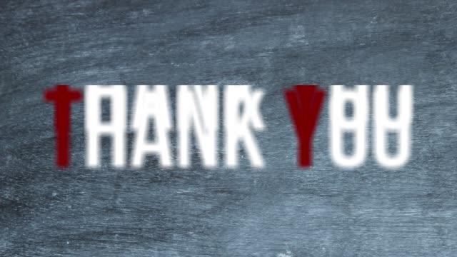 "Text ""Thank You"" über Blackboard"