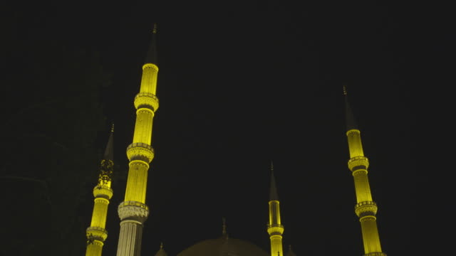 texterior shot of selimiye mosque - mosque stock videos & royalty-free footage