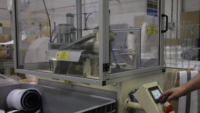 textile factory - mattress stock videos and b-roll footage