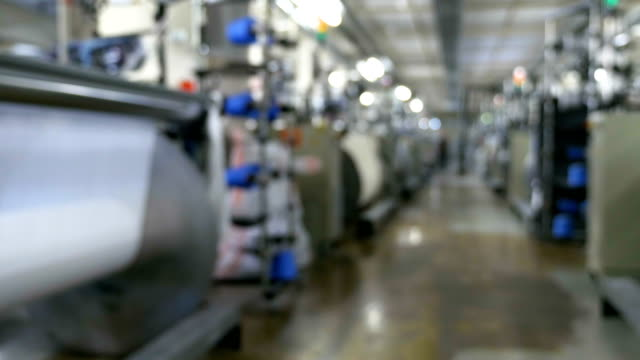 textile factory with blurry background - needle plant part stock videos and b-roll footage
