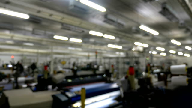 textile factory with blurry background - ball of wool stock videos & royalty-free footage