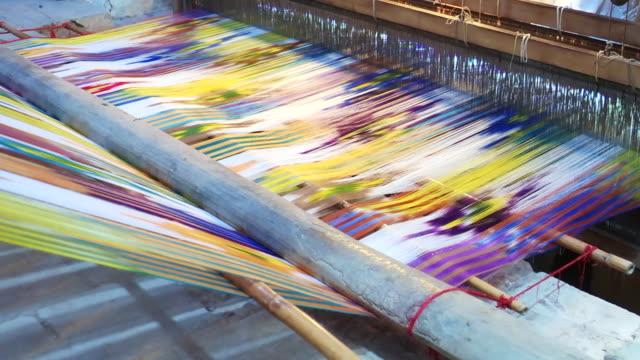 vidéos et rushes de industrie textile à yazd, iran - en matière textile