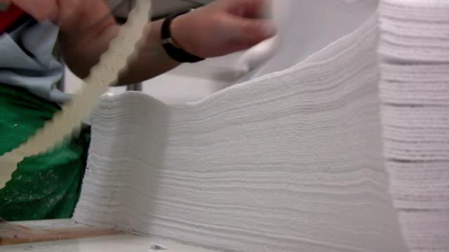 繊維工業 - 生地サンプル点の映像素材/bロール