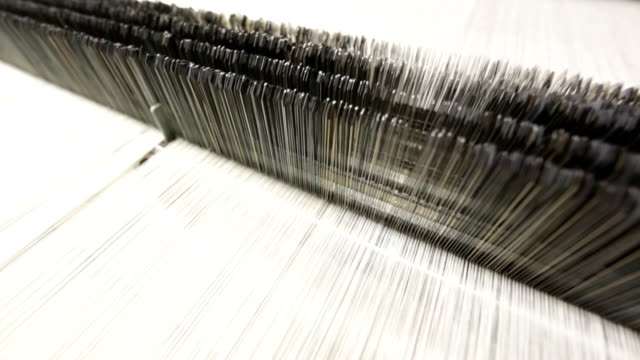 stockvideo's en b-roll-footage met textile machine - bouwmachines