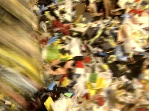 textil-recycling - textilfabrik stock-videos und b-roll-filmmaterial