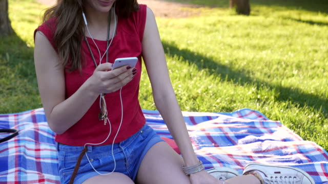 Texting and listening to music